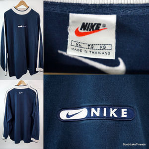 VTG Men's Nike L/S Shirt XL Embroidered Spellout
